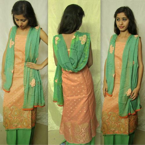 DKC2SCA4-BAO001 - Embroidered Silkcotton Salwar Suit
