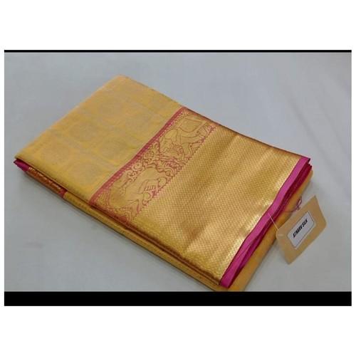 DKKS01 - Kanchipuram look alike woven silk saree with rich pallu