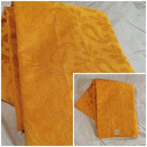 190 - Self brocaded soft silk cotton fabric