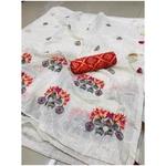 DMC03 - Modal cotton chex with banglori silk blouse