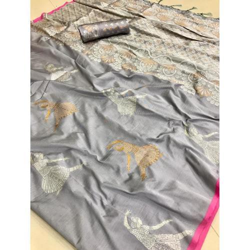DLS14-Lichi Silk with jacqard weave pallu