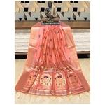 DPS02-  Silk cotton woven Paithani Saree
