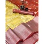 DKO003 - Organza Silk Saree with Jacquard Blouse
