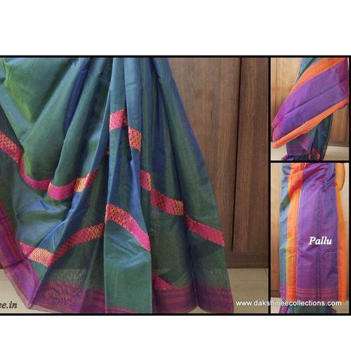 DKC1SCA9-SCB003-P - Designer bordered Silkcotton sarees