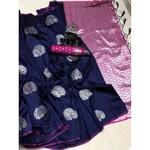 DLJ05-  Lilchi Silk Jacquard woven Saree
