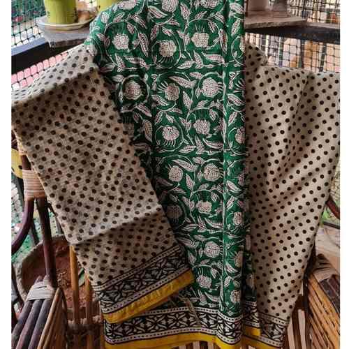 block printed cotton suit