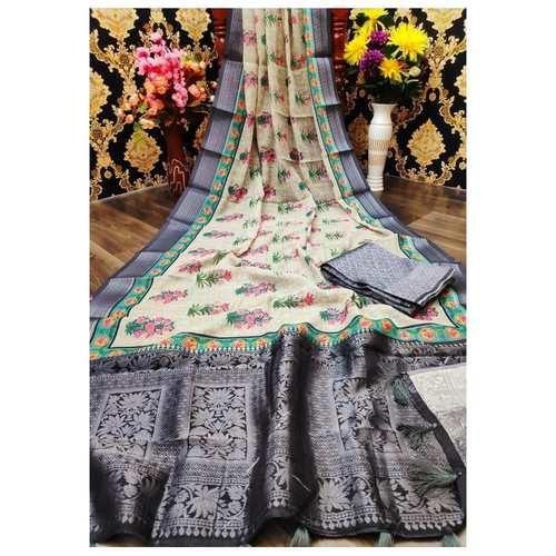 DJL07-  Jacquard Linen Silk Sarees