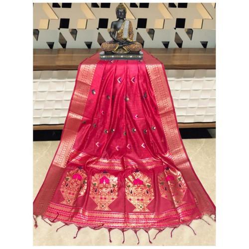 DPS05-  Silk cotton woven Paithani Saree