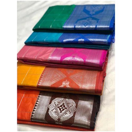 DLS12-  Lichi Silk with jacqard weave pallu