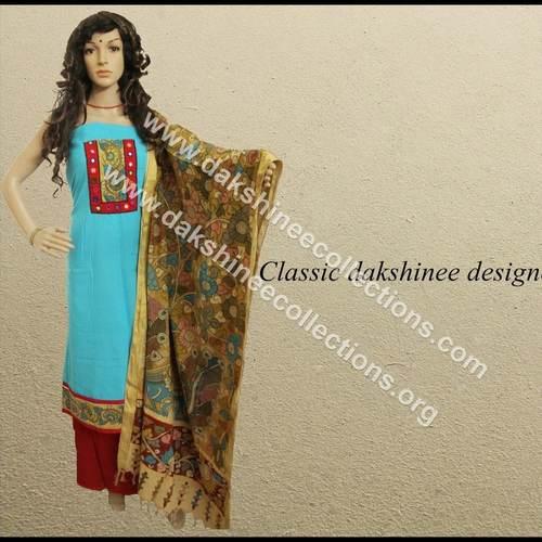 Kalamkari and Kutch work Salwar Suit