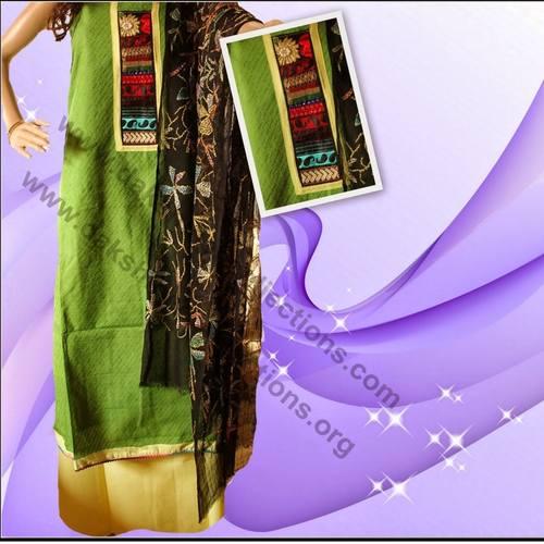 Jacquard cotton salwar suit