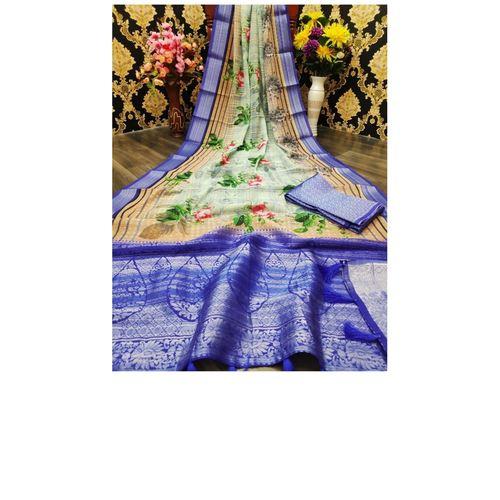 DJL10-  Jacquard Linen Silk Sarees