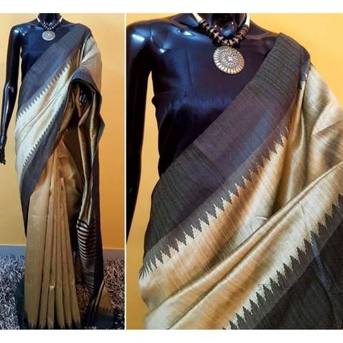 DKS08-  Khadi Raw silk Sarees