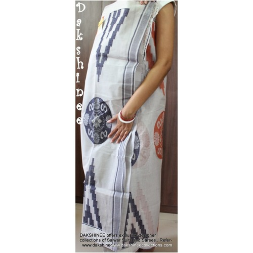 DKC1COA8-PCW007-R - Dhaka handloom cotton saree