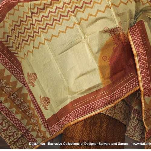 DKC2SCA2-BHY002 - Bhagalpuri Silk cotton Salwar suit