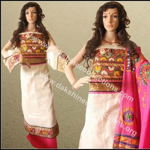 Designer Hand embroidered Kutch work Anarkali top
