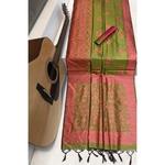 DRS01 - Raw Silk Saree with kalamkari woven Pallu