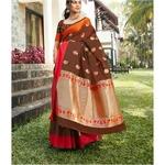 DKKS22 - Soft linen silk with Minakari work