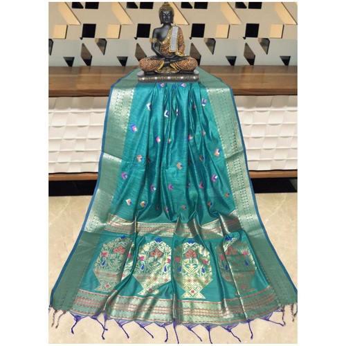 DPS04-  Silk cotton woven Paithani Saree
