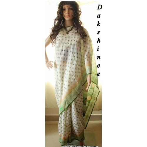 DKC1SKA2-MUW006-p - Block printed Silk Saree