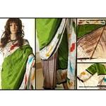 DKC1SKA2-P-MUG041 - Hand painted Half and Half Pure Silk saree