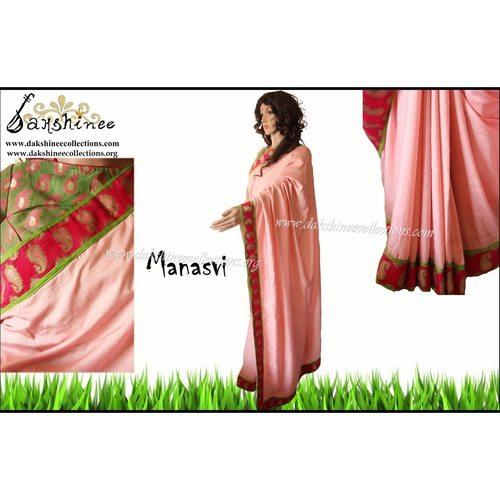 DKC1SCA15-BHV049 - Designer benarasi bordered soft silkcotton saree