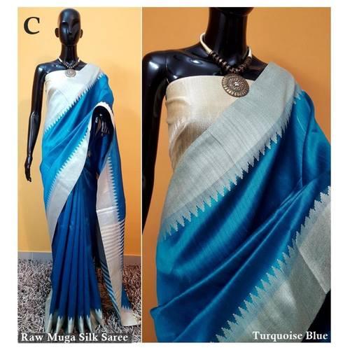 DKS03-  Khadi Raw silk Sarees