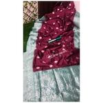 DSS01-  Soft Silk saree with silver zari border