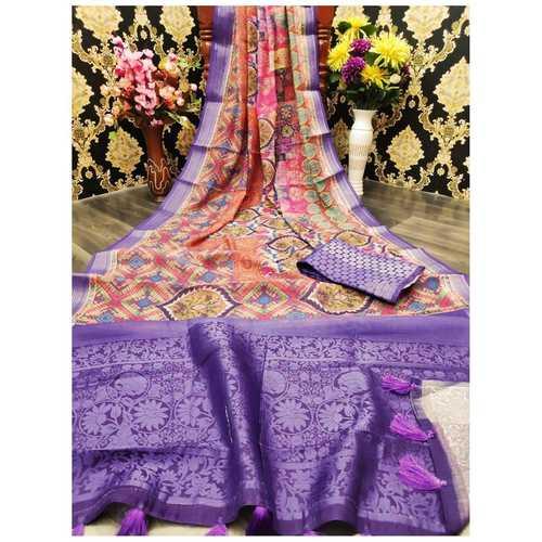 DJL09-  Jacquard Linen Silk Sarees