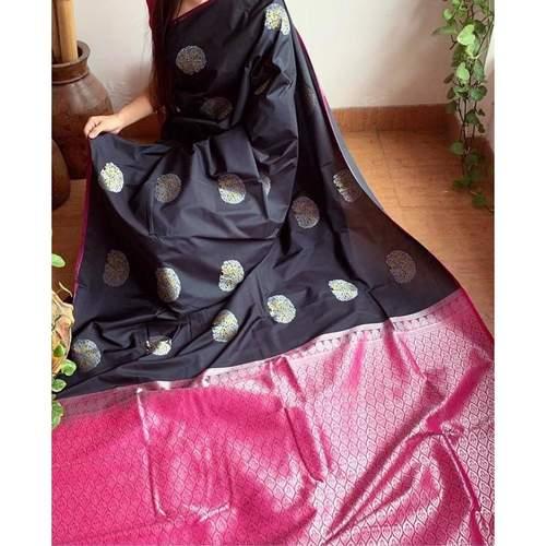 DLJ01-  Lilchi Silk Jacquard woven Saree
