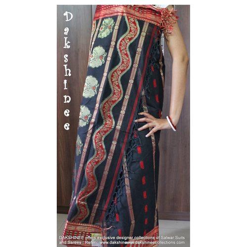 DKC1COA8-PCB009-P - Dhaka handloom cotton saree