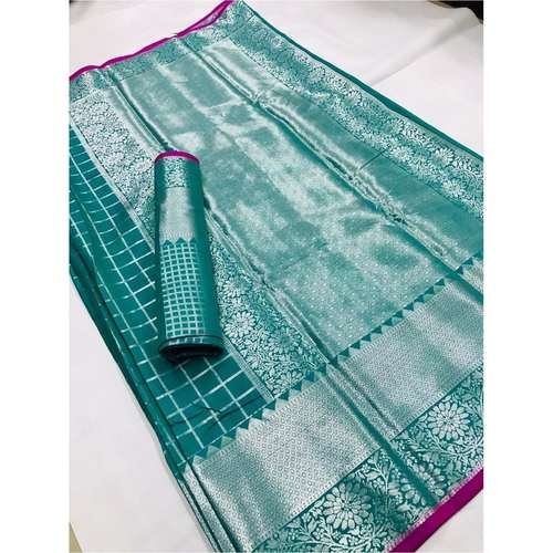 DLZ01 - Lichi Silk with silver zari weave