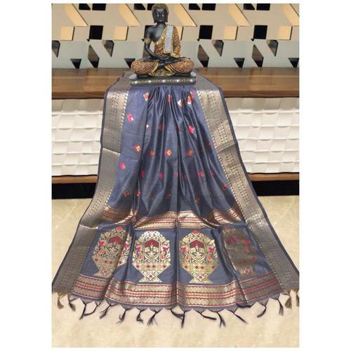 DPS06-  Silk cotton woven Paithani Saree