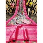 DJL04-  Jacquard Linen Silk Sarees