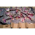 DLS13- Floral Linen Silk Sarees