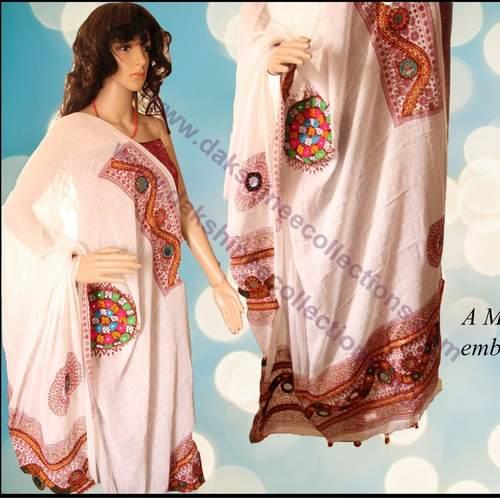 Kutch work Cotton Dupatta