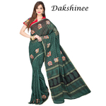 DKC1SCA11-SCG045 -Designer Chanderi Silk Saree with Kalamkari Applique