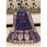 DPS03-  Silk cotton woven Paithani Saree