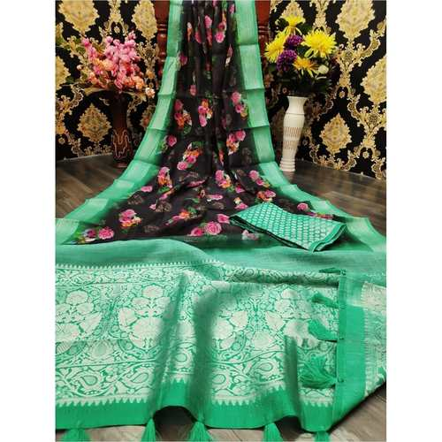 DJL01-  Jacquard Linen Silk Sarees