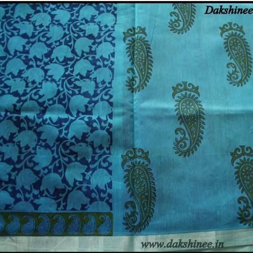 DKC1SCA2-SCB007-P - Uppada Kosa Silk Cotton Saree with Blouse