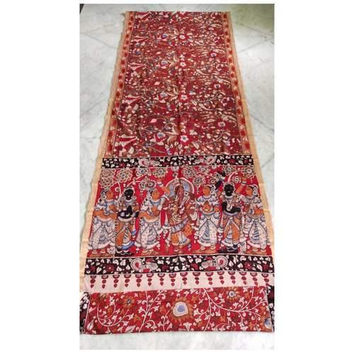 DK05 - Vegetable coloured Mangalgiri cotton Kalamkari Sarees