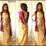 Kantha work tussar silk top and dupatta