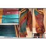DKC1SCA9-SCG006-P - Designer bordered Seico Silk Cotton Saree with blouse