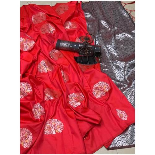 DLJ08-  Lilchi Silk Jacquard woven Saree