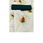 DFM04 - Fabric Modal cotton checks saree with banglori Silk blouse