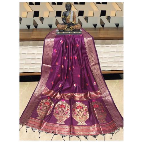 DPS01-  Silk cotton woven Paithani Saree