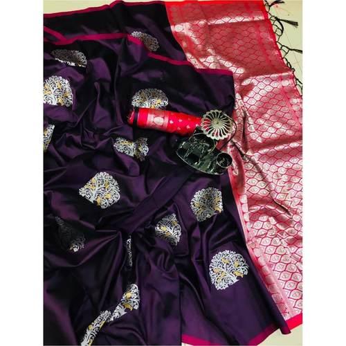 DLJ06-  Lilchi Silk Jacquard woven Saree