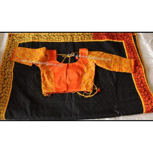 DKC1SCA11-SCY046 - Designer Brass silkcotton Saree