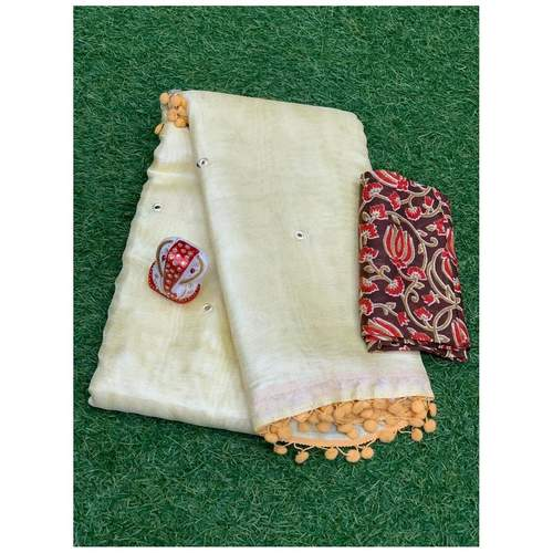 DMW09-  Madhubani Mirror weaves Saree