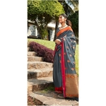 DKKS24 - Soft linen silk with Minakari work
